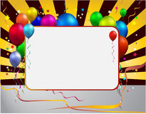 Party balloon. With frame background Royalty Free Stock Photo
