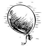 Party balloon with ribbon Royalty Free Stock Photo