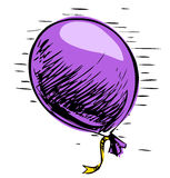 Party balloon with ribbon Stock Images