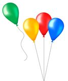 Party balloons. Colorful party balloons made with gradient mesh Stock Photography