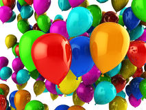 Party balloons. Abstract 3d illustration of colorful party balloons background Royalty Free Stock Photography