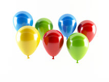 Party balloons. 3D rendering of a set of colorful party balloons Royalty Free Stock Photo