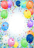 Party Balloons. Colored background illustration Royalty Free Stock Photo