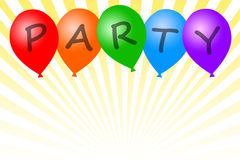 Party balloons. Celebrating a special occasion with party balloons (copy space to the bottom of the image Stock Photo