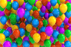Party Balloons. Colorful party balloon background with dozens of balloons Stock Photos