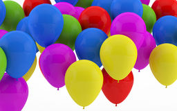 Party balloons. Group of Party balloonsfloating in air stock illustration