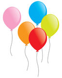 Party Balloons. Colorful balloons on the white background, EPS vector availab.e Stock Image
