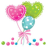 Party balloons. Colorful party balloons. vector illustration Stock Photography
