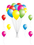 Party balloons. In vibrant colours.  Using gradients only, no mesh Stock Photos