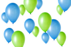 Party Balloons. Many party balloons over a white background royalty free stock photo