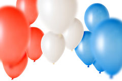 Party Balloons. Many party ballons isolated over a white background stock images