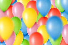 Party Balloons. Colorful background mad of many party balloons royalty free stock photography