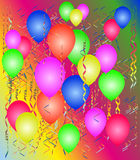 Party with balloons. And a streamer, a background Royalty Free Stock Photo