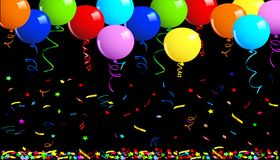 Party balloons background vector illustration