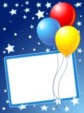 Party balloons background Stock Images