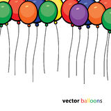 Party Balloons Background Stock Image
