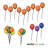 Party Balloons Background Stock Photos