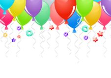 Party balloons background Stock Photography