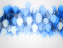 Party balloons background. Blue and white party balloons Stock Photos