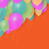 Party Balloons Background for your Text. Stock. Party Balloons Background for your Text. Vector Illustration Stock Photo