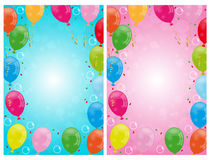 Party balloons backgrounds royalty free illustration