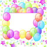 Party Balloons Banner Stock Image