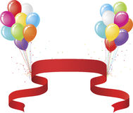Party Balloons and Banner Royalty Free Stock Photos