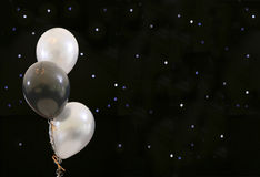 Party balloons on black Royalty Free Stock Photo