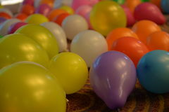 Party balloons. Color full balloons. Balloon on the floors royalty free stock photo