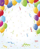Party Balloons and Confetti Royalty Free Stock Photos