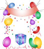 Party - balloons, confetti Royalty Free Stock Photo