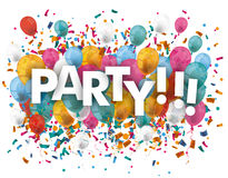 Party Balloons Confetti Royalty Free Stock Images