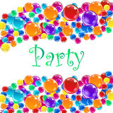 Party balloons with confetti. Vector illustration Eps10 Royalty Free Stock Image