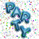 Party Balloons and confetti Royalty Free Stock Image