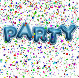 Party Balloons and confetti royalty free stock photography