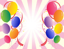 Party balloons in different colors Stock Images
