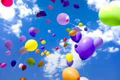Party Balloons Flying Sky