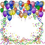 Party Balloons Frame Stock Images