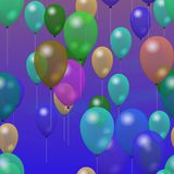 Party balloons generated hires texture Royalty Free Stock Photography