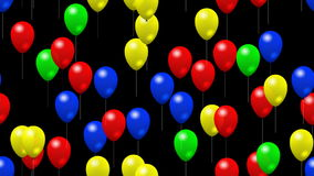 Party balloons generated seamless loop video alpha matte stock video