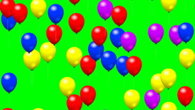 Party balloons generated seamless loop video green screen
