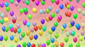 Party balloons generated seamless loop video stock video footage