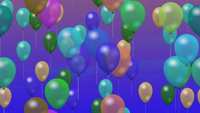 Party balloons generated seamless loop video stock footage