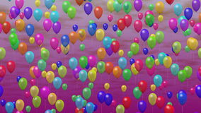 Party balloons generated seamless loop video stock video