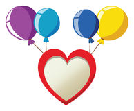 Party balloons with heart. Vector illustration Royalty Free Stock Photos