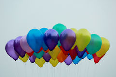 Party balloons high up Royalty Free Stock Images