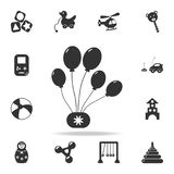Party balloons icon. Detailed set of baby toys icons. Premium quality graphic design. One of the collection icons for websites, we. B design, mobile app on white Stock Photos