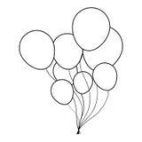 Party balloons icon image Royalty Free Stock Photo