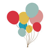 Party balloons icon image Stock Image