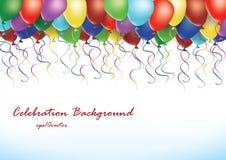 Party balloons  illustration Royalty Free Stock Photo